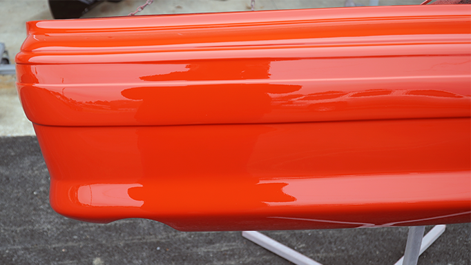 Close up of the painted bumper.