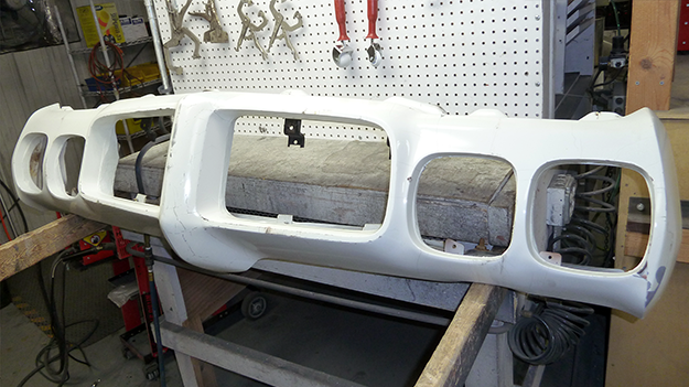 The bumper before being sanded.