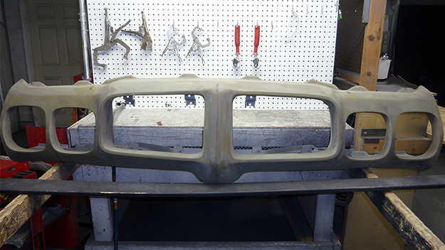The bumper after sanding.