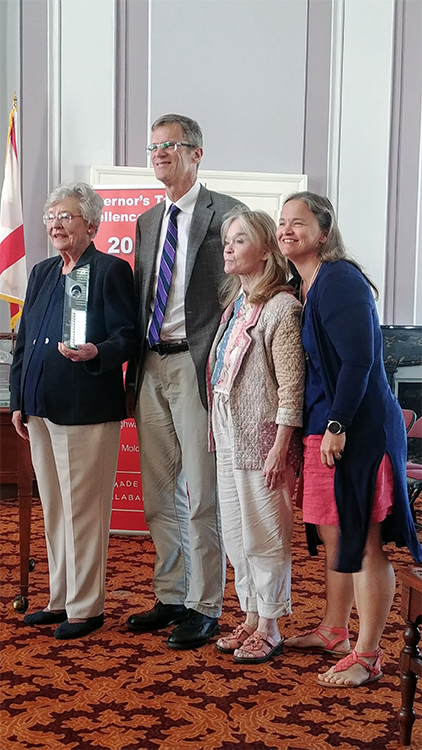 Kurt with Governor Kay Ivey, his aunt Roberta Lammon, and her daughter Jill Boozer.