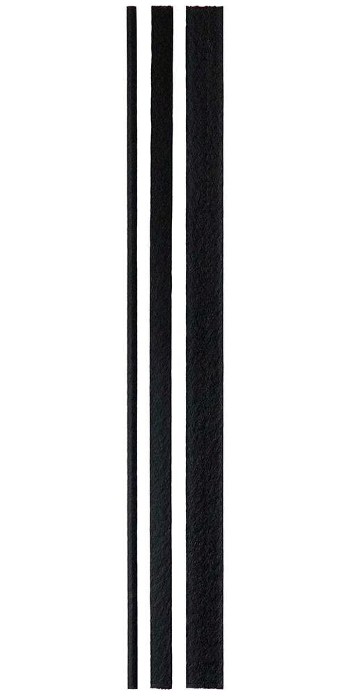 The three R18 welding rod profiles.