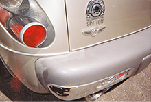 Tape Marks on PT Cruiser Bumper