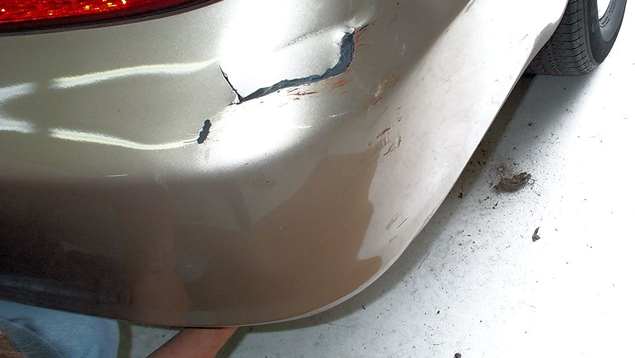 repairing cracked paint on a car